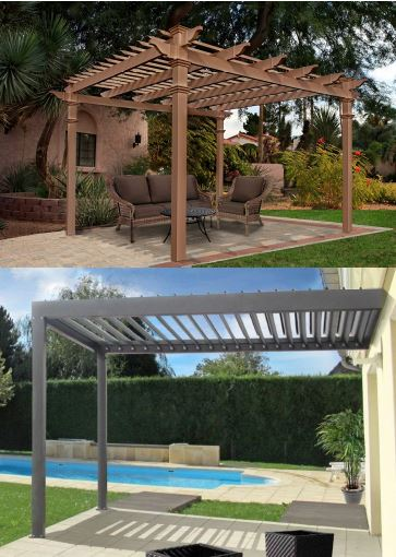 Freestanding and Attached Pergolas