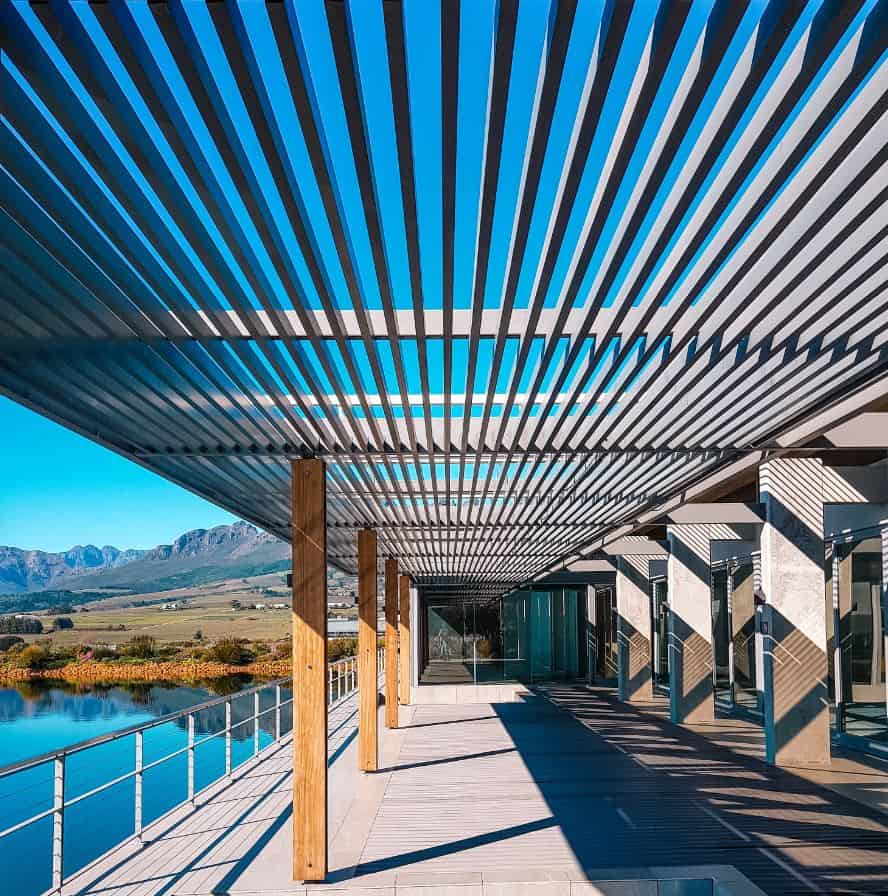 Pergola helps keep your house cool